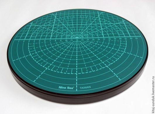 Шитье ручной работы. Ярмарка Мастеров - ручная работа. Купить Мат для кроя поворотный круглый диаметр 25 см, Тайвань. Handmade.