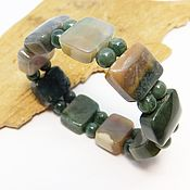 Украшения handmade. Livemaster - original item Bracelet of chalcedony in the rock Garden. Handmade.