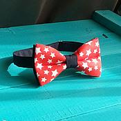 Аксессуары handmade. Livemaster - original item Butterfly tie Stargazer / black-red tie with stars. Handmade.