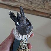 Мини фигурки и статуэтки ручной работы. Ярмарка Мастеров - ручная работа Черный кролик. Handmade.
