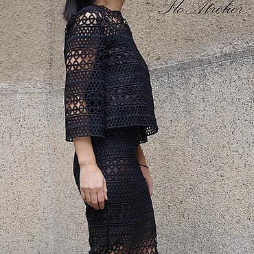 Одежда ручной работы. Ярмарка Мастеров - ручная работа Экстравагантнoe платье из кружева/Комплект/F1517. Handmade.