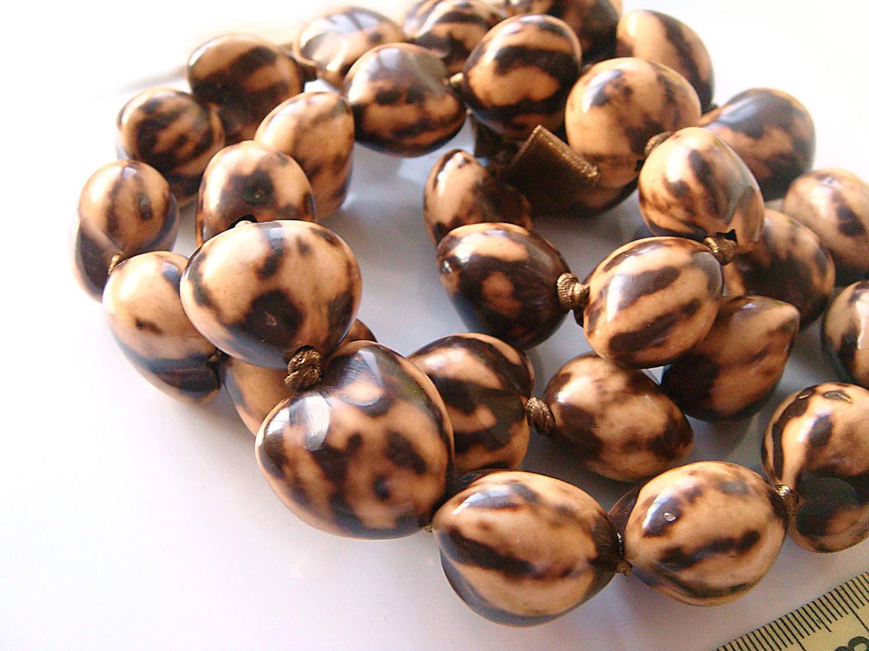 Beads Kukui Nut tree 24h22mm, Beads1, Bryansk,  Фото №1
