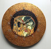Для дома и интерьера ручной работы. Ярмарка Мастеров - ручная работа Часы Поцелуй (большие). Handmade.