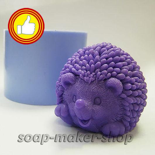 Материалы для косметики ручной работы. Ярмарка Мастеров - ручная работа. Купить Силиконовая форма для мыла «Ежик 3D». Handmade.