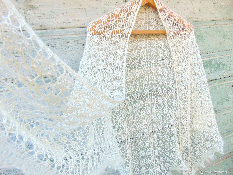 Вязание из мохера шали