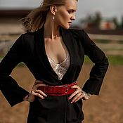 Аксессуары handmade. Livemaster - original item Nice belt made of premium genuine Italian leather. Handmade.