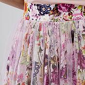 Одежда ручной работы. Ярмарка Мастеров - ручная работа Юбка в пол из фатина и хлопка летняя. Handmade.