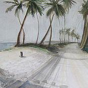 Картины и панно handmade. Livemaster - original item Picture. Dominican Republic. Palm forest. Handmade.