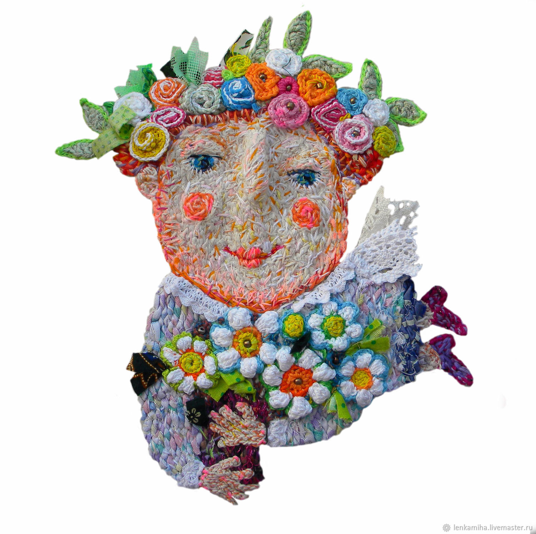 Pendants handmade. Livemaster - handmade. Buy Spring.Joy, spring, interior doll, manual work of authorship, thread