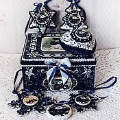 Подарки к праздникам handmade. Livemaster - original item A set of Christmas tree decorations