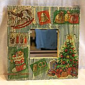 Для дома и интерьера ручной работы. Ярмарка Мастеров - ручная работа Зеркало в раме № 2. Handmade.