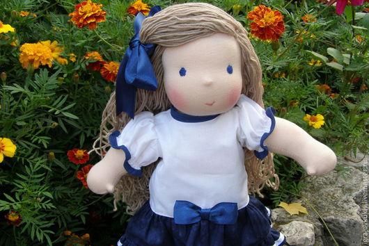 Вальдорфская игрушка ручной работы. Ярмарка Мастеров - ручная работа. Купить Вальдорфская кукла Морячка. Handmade. Тёмно-синий