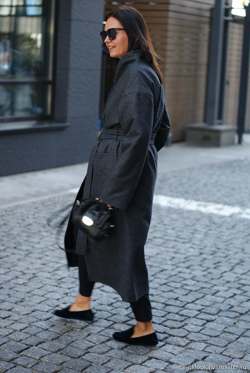 Пальто женское серое утепленное, зимнее женское пальто, Пальто, Киев,  Фото №1