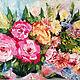 Картины цветов ручной работы. Ярмарка Мастеров - ручная работа. Купить Букет. Handmade. Разноцветный, мастихин, букет, масляные краски