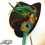 Украшения handmade. Livemaster - original item Hair clip brooch with feathers.. Handmade.