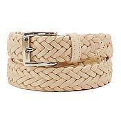 Аксессуары handmade. Livemaster - original item Copy of Beige leather belt. Handmade.