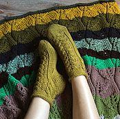 Аксессуары ручной работы. Ярмарка Мастеров - ручная работа Носки нежного травяного цвета. Handmade.