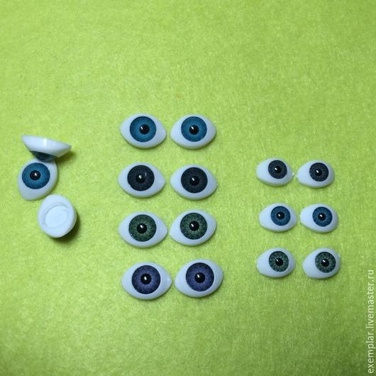 Глазки кукольные. Клеевые. 14 мм (голубые, серые, зеленые, фиолетовые) - 12 руб/пара. 11 мм - (голубые, серые, зеленые) - 10 руб/пара
