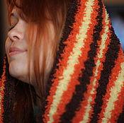 """Аксессуары ручной работы. Ярмарка Мастеров - ручная работа Снуд """"Горячий шоколад и апельсин"""". Handmade."""
