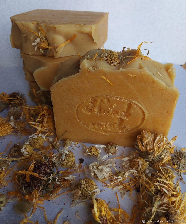 Natural solid shampoo Chamomile Calendula Honey Silk, Shampoos, Kaliningrad,  Фото №1
