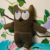 """Куклы и игрушки ручной работы. Ярмарка Мастеров - ручная работа мягкая игрушка Кот """"Вельветик"""". Handmade."""