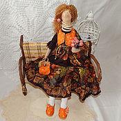 Куклы и игрушки ручной работы. Ярмарка Мастеров - ручная работа Бохо тильда Октябрина, осенние краски. Handmade.