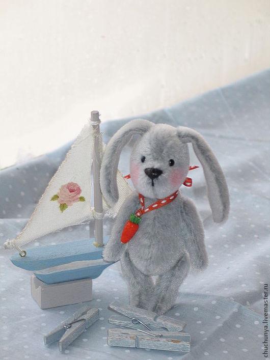 Мишки Тедди ручной работы. Ярмарка Мастеров - ручная работа. Купить Зайчонок Вики. Handmade. Зайка, серый, гранулят металлический