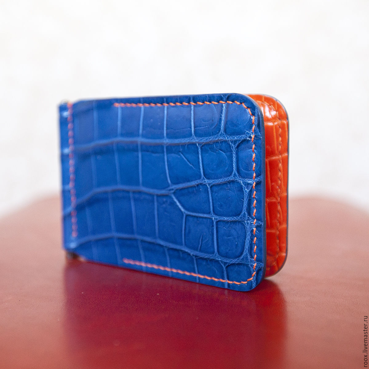 Wallet money clip crocodile leather, Clamps, Moscow,  Фото №1