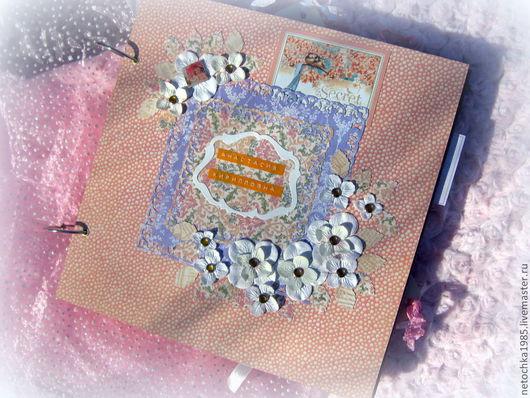 """Фотоальбомы ручной работы. Ярмарка Мастеров - ручная работа. Купить Альбом """"Беременность и 12 месяцев"""". Handmade. Альбом для фото, брадсы"""
