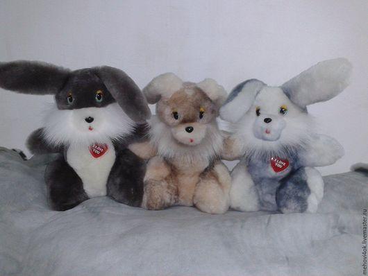 """Куклы и игрушки ручной работы. Ярмарка Мастеров - ручная работа. Купить Игрушки из меха """"Братец кролик""""- меховая игрушка зайчик, заяц, кролик. Handmade."""