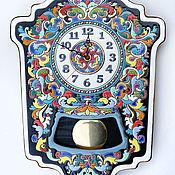 Для дома и интерьера ручной работы. Ярмарка Мастеров - ручная работа Часы декоративные,керамические, с маятником.. Handmade.