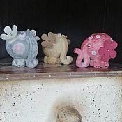Куклы и игрушки handmade. Livemaster - original item Set of toys / elephants. Handmade.