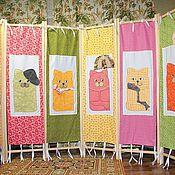 Для дома и интерьера ручной работы. Ярмарка Мастеров - ручная работа Шесть котов (полотнища). Handmade.