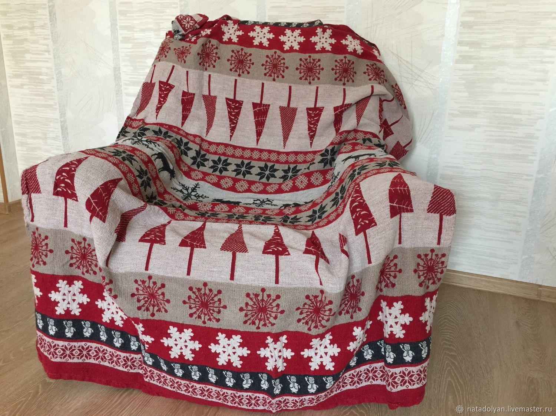 Linen plaid 'Lapland -3' in stock, Blankets, Ivanovo,  Фото №1