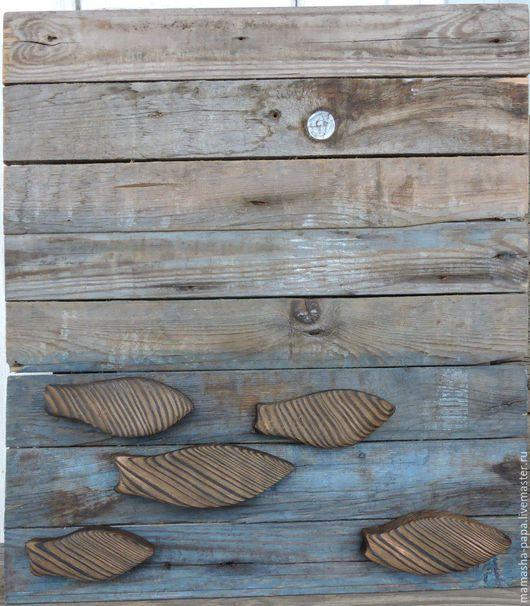 """Этно ручной работы. Ярмарка Мастеров - ручная работа. Купить Деревянная картина """"Рыбы"""". Handmade. Комбинированный, подарок на любой случай"""