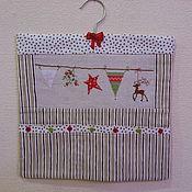 Подарки к праздникам ручной работы. Ярмарка Мастеров - ручная работа Новогодний кармашек для сувениров. Handmade.