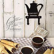 Вешалки и крючки ручной работы. Ярмарка Мастеров - ручная работа Крючки серии Кофе и Чай. Handmade.