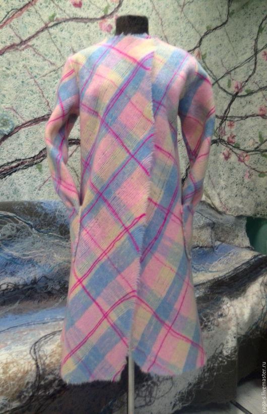 """Кофты и свитера ручной работы. Ярмарка Мастеров - ручная работа. Купить Яга пальто – кардиган """"Розовая карамель, клетка"""". Handmade."""