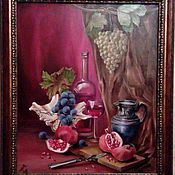Картины и панно ручной работы. Ярмарка Мастеров - ручная работа Натюрморт с вином. Handmade.