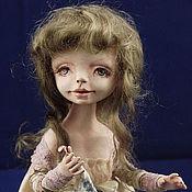 """Куклы и игрушки ручной работы. Ярмарка Мастеров - ручная работа авторская кукла """"Лиза с мишкой"""". Handmade."""