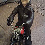 Куклы и игрушки ручной работы. Ярмарка Мастеров - ручная работа Портретная кукла Байкер 2. Handmade.