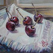 """Картины и панно ручной работы. Ярмарка Мастеров - ручная работа """"Черешня"""" картина маслом. Handmade."""