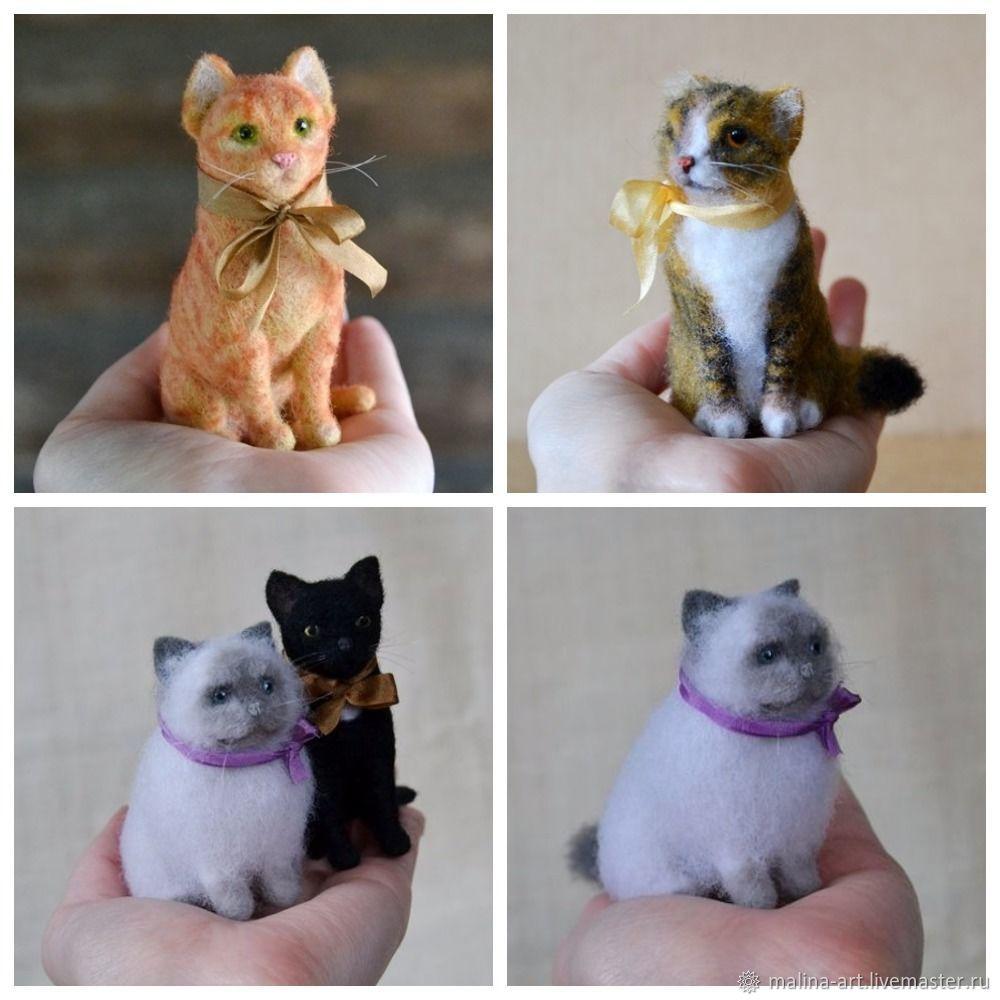 Кошки из войлока (сухое валяние), Войлочная игрушка, Череповец,  Фото №1