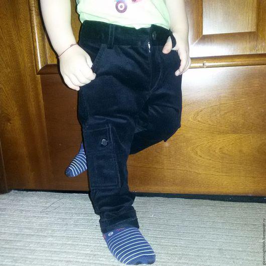 Вельветовые брюки-карго на мальчика Размер 80-86
