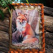 Канцелярские товары handmade. Livemaster - original item Passport cover Fox 3. Handmade.