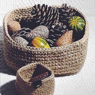 Для дома и интерьера ручной работы. Ярмарка Мастеров - ручная работа Корзинки для хранения мелких предметов. Handmade.