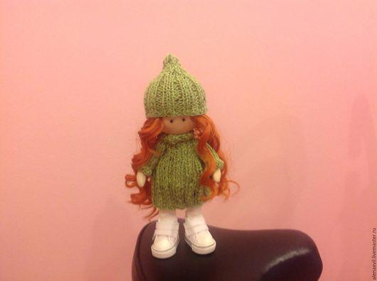 Куклы тыквоголовки ручной работы. Ярмарка Мастеров - ручная работа. Купить Рыжик в зеленом. Handmade. Рыжий, кукла в подарок