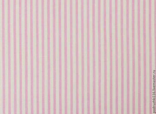 Шитье ручной работы. Ярмарка Мастеров - ручная работа. Купить Ткань Хлопок Розовые полоски. Handmade. Бязь, хлопок