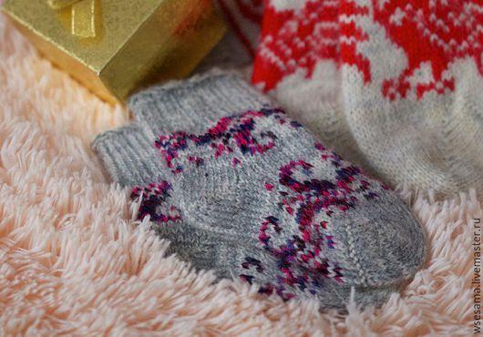 Носки, Чулки ручной работы. Ярмарка Мастеров - ручная работа. Купить Носки из ангорки для самых маленьких.. Handmade. Рисунок, ангорка