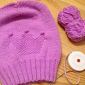"""Аксессуары ручной работы. Ярмарка Мастеров - ручная работа """"Princess"""" - удлинённая шапка Bini. Handmade."""